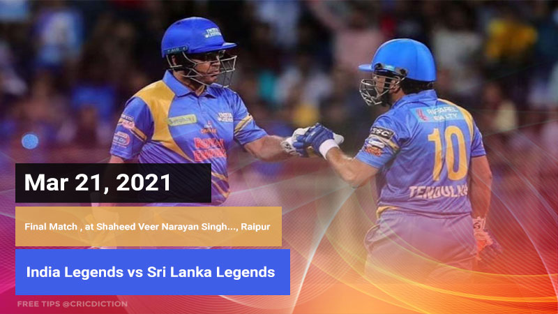 India Legends vs Sri Lanka Legends
