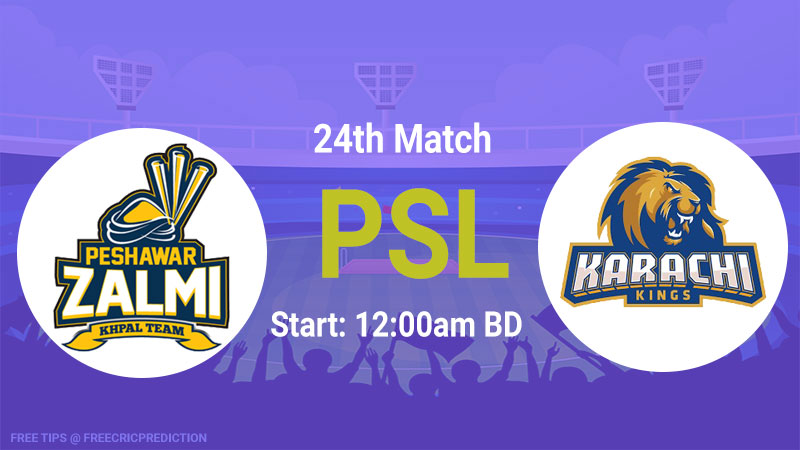 Peshawar Zalmi vs Karachi Kings
