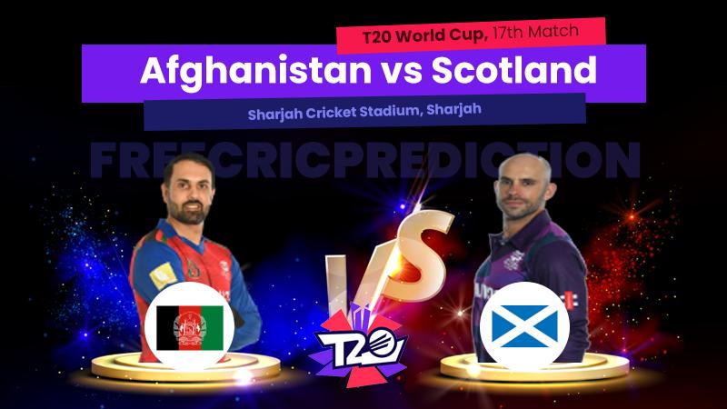 AFG vs SCO, 17th Match