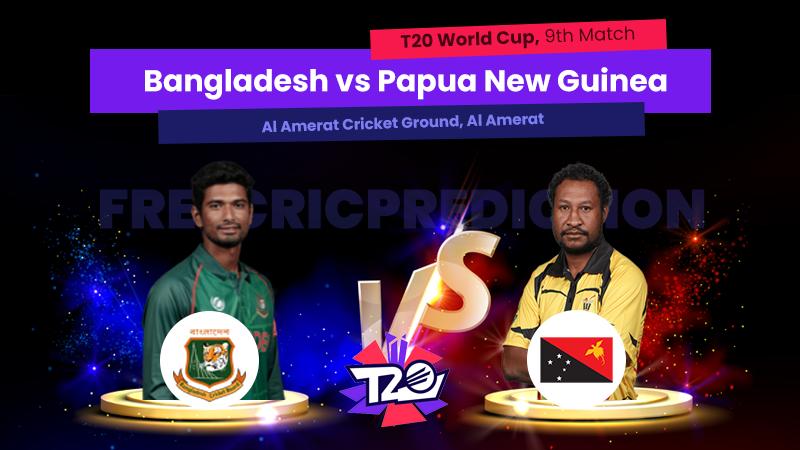 BAN vs PNG, 9th Match