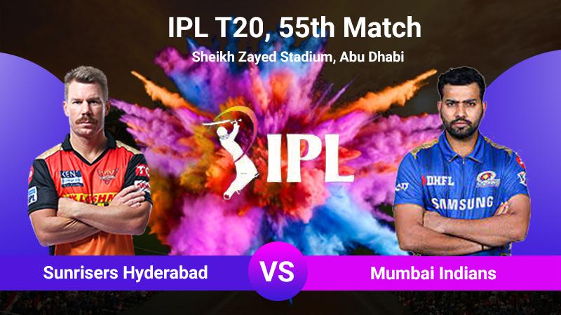 SRH vs MI, 55th Match